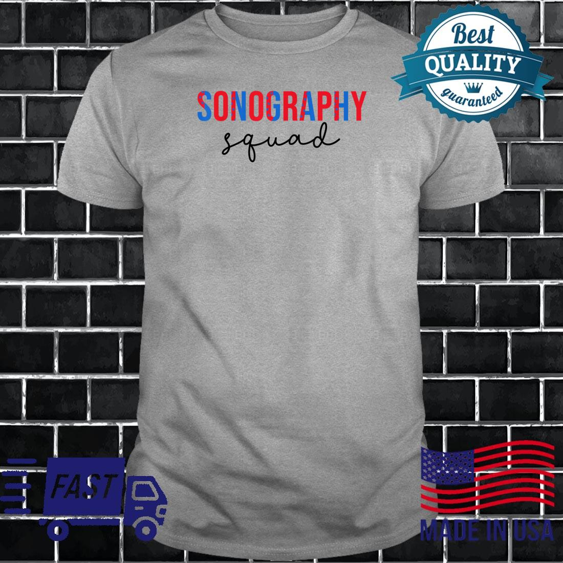 Funny Sonography Squad 4th Of July Shirt long sleeved